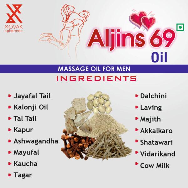 Aljins 69 Tablets & Aljins 69 Oil Combo For Stamina Booster With Enlargement Oil 14