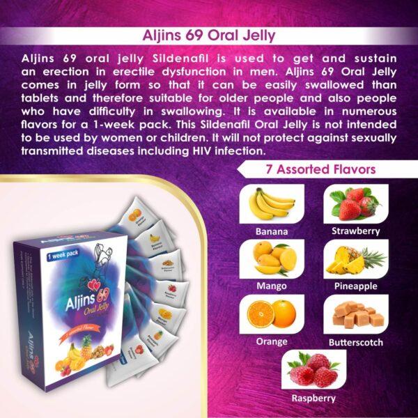 Aljins 69 Oral Jelly Sildenafil For Erection In Erectile Dysfunction In Men 9