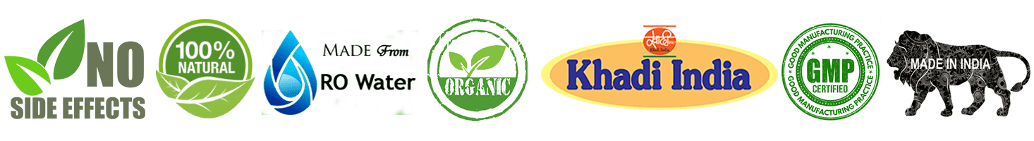 No-Side effect, 100% Natural, Made from ro water, khadi-india,