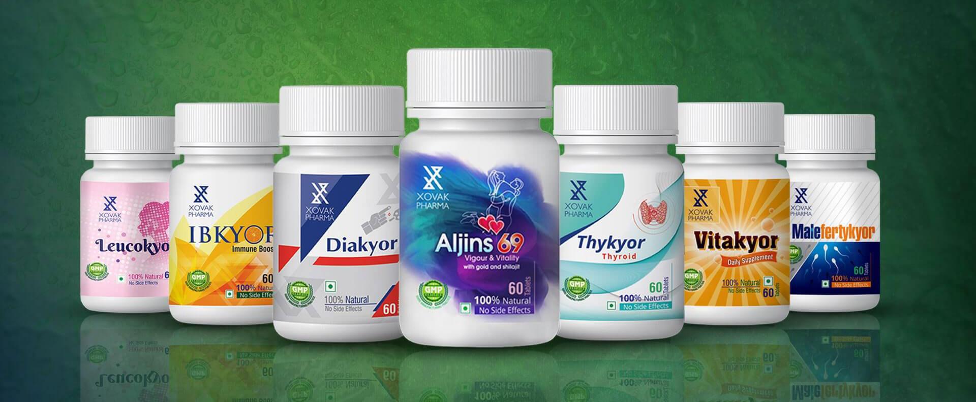 Xovak Pharma Products lists