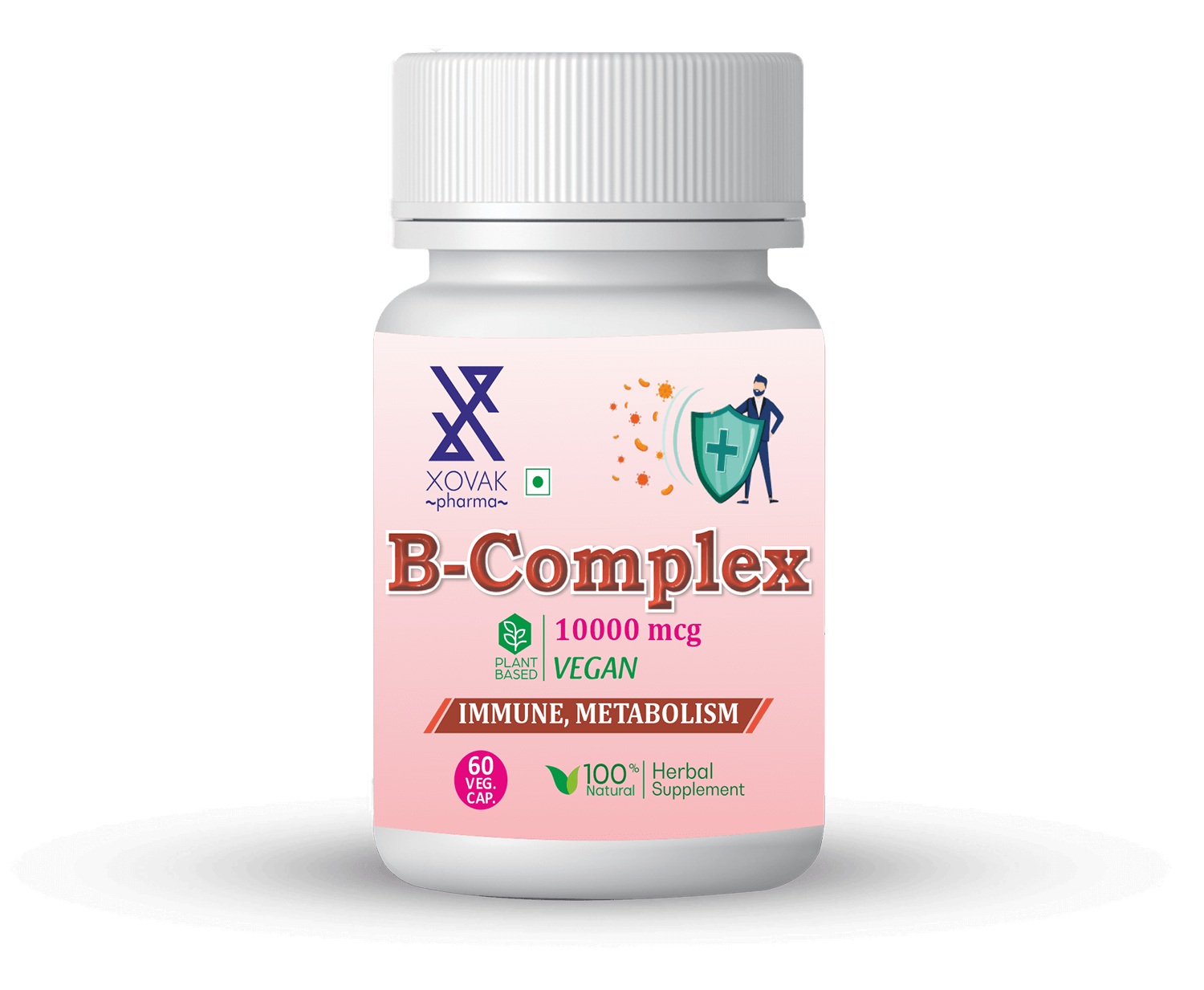 B-Complex Capsules For Immune Health, Support Bone, And Metabolism 10