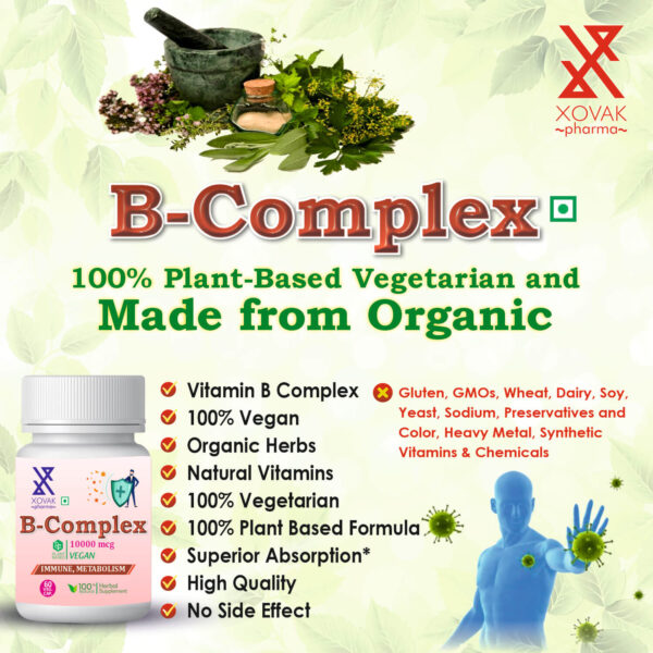 B-Complex Capsules For Immune Health, Support Bone, And Metabolism 8