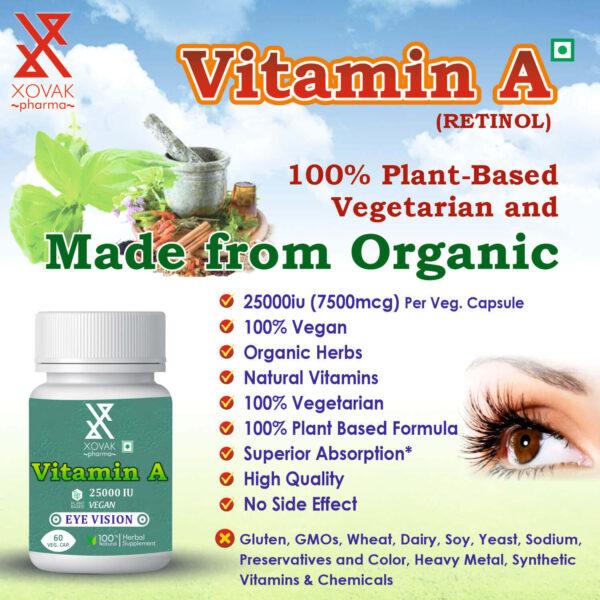 Vitamin A Capsules For Eye Vision, Immune Health, And Brain & Bone Development 8
