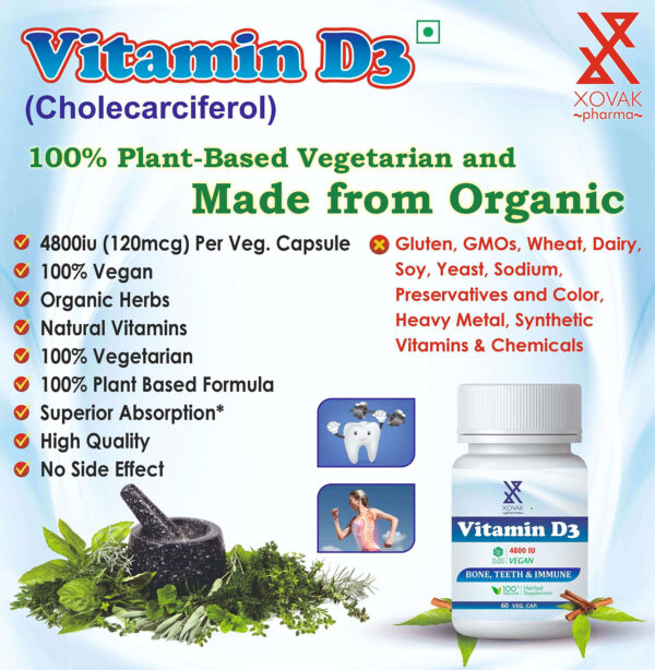 Vitamin D3 Capsules For Support Bone, Teeth And Muscle Health 5