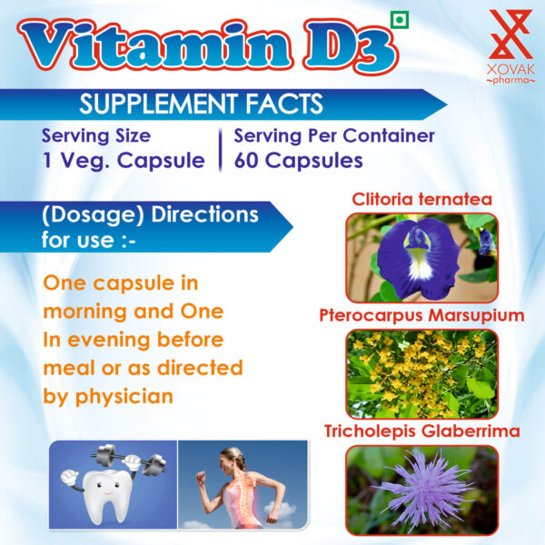 Vitamin D3 Capsules For Support Bone, Teeth And Muscle Health 9