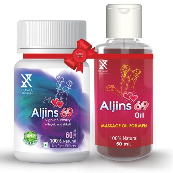 Aljins 69 Tablets & Aljins 69 Oil Combo For Stamina Booster With Enlargement Oil 4