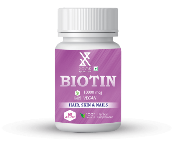 Biotin Capsules For Nails, Hair And Skin Health 1
