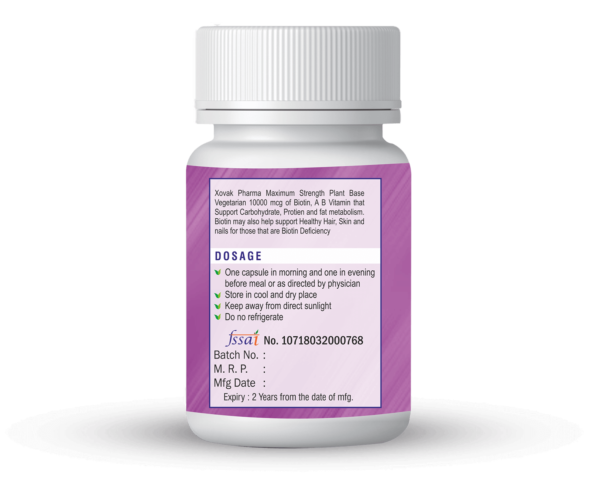 Biotin Capsules For Nails, Hair And Skin Health 3