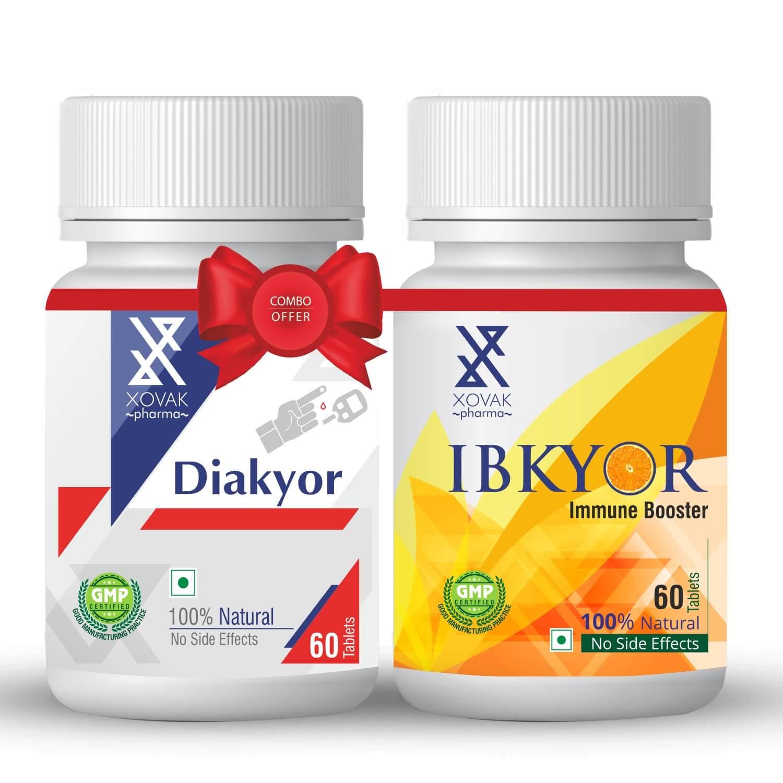 Diakyor & IBkyor Combo For Diabetes With Immunity Booster 12