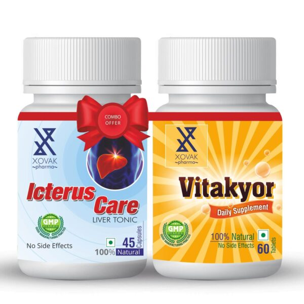 Icterus Care & Vitakyor Combo For Liver Tonic With Multivitamins 1