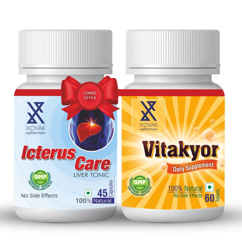 Icterus Care & Vitakyor Combo For Liver Tonic With Multivitamins 16
