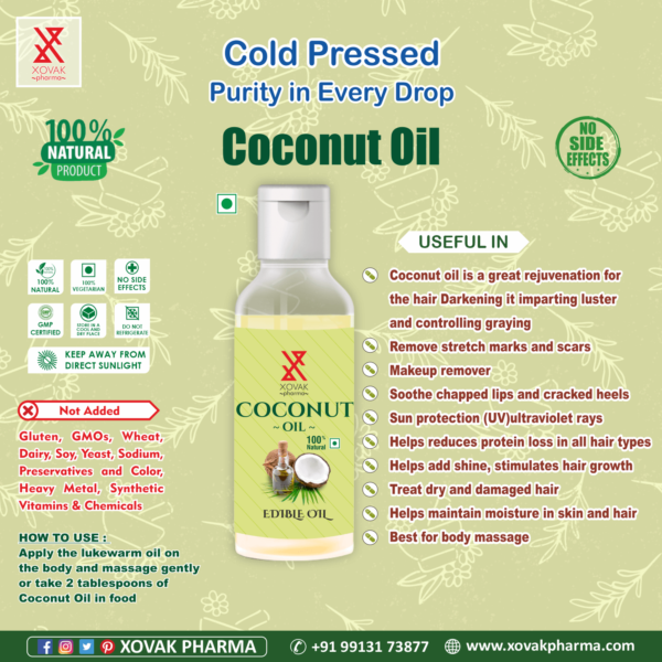 Pure Cold Pressed Coconut Oil 4