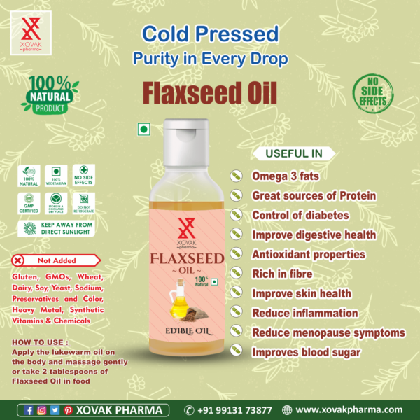 Pure Cold Pressed Flaxseed Oil 4