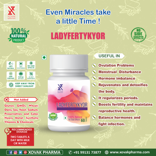 Ladyfertykyor & Vitakyor Combo For Female Infertility With Multivitamins 5