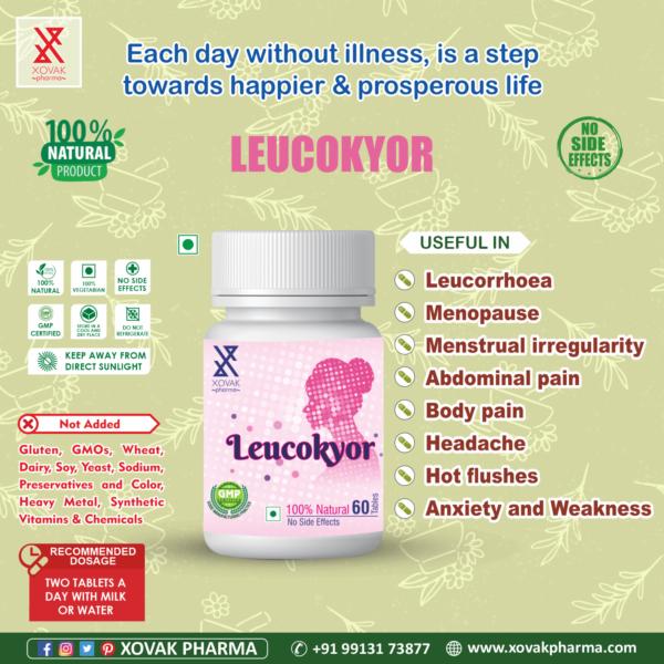 Leucokyor Tablets For Leucorrhea, Vaginal Discharge And Menopause 7