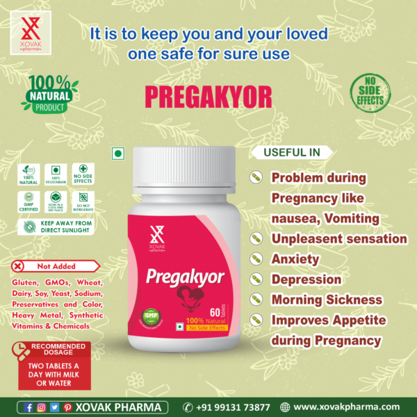 Pregakyor Tablets For During Pregnancy, Treat Vomiting, Nausea And Excessive Thirst 4