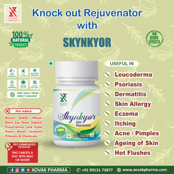 Skynkyor Tablets For Skin Care, Healthy Skin, Moisturizes And Hydrates The Skin 4